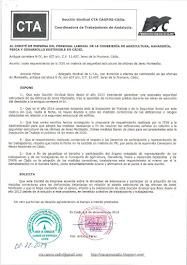 Trasladamos al Comité de Empresa copia requerimiento de la ITSS en materia de seguridad estructural