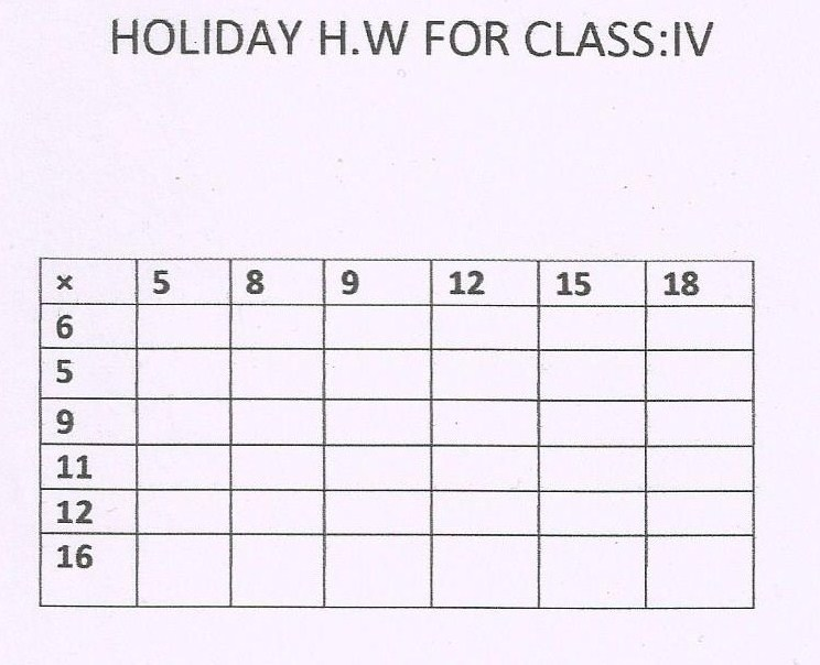 Write my holiday homework of english for class 8