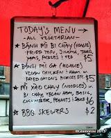 The menu for Kung Fu Hoagies food cart in Philadelphia, PA