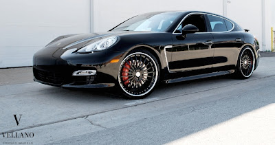 Porsche Panamera Turbo Rides on Vellano Wheels