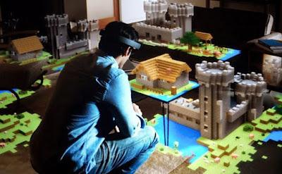 Bermain Minecraft dengan Menggunakan Teknologi Hologram