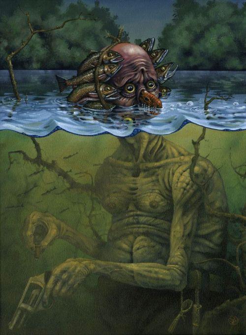 Jeff Christensen js4853 deviantart pinturas surreais sombrias Maré alta