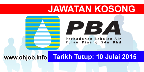 Jawatan Kerja Kosong Perbadanan Bekalan Air Pulau Pinang (PBAPP) logo www.ohjob.info julai 2015