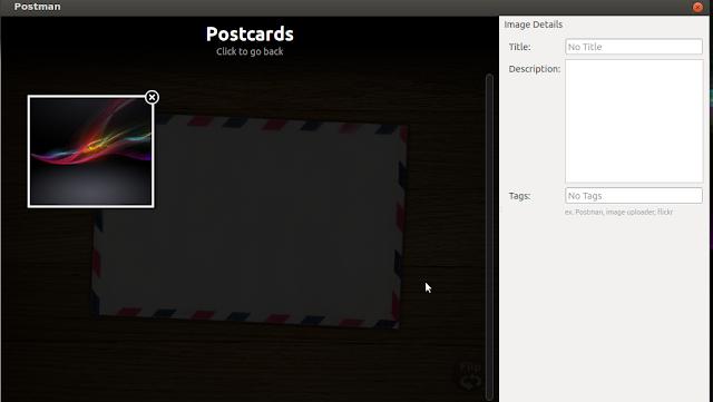 How to upload image using postman uploader in ubunt/Linux Mint