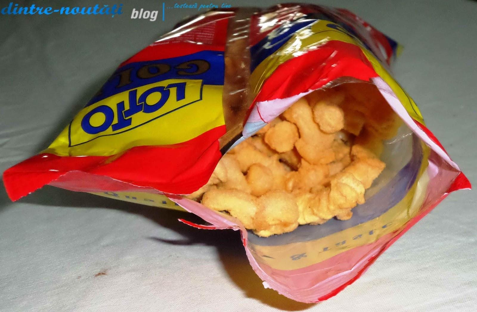 Snack (pufuleți) din porumb cu aromă de pastă de alune