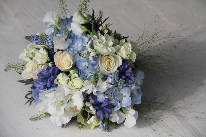 Beautiful Blue Wedding Bouquet