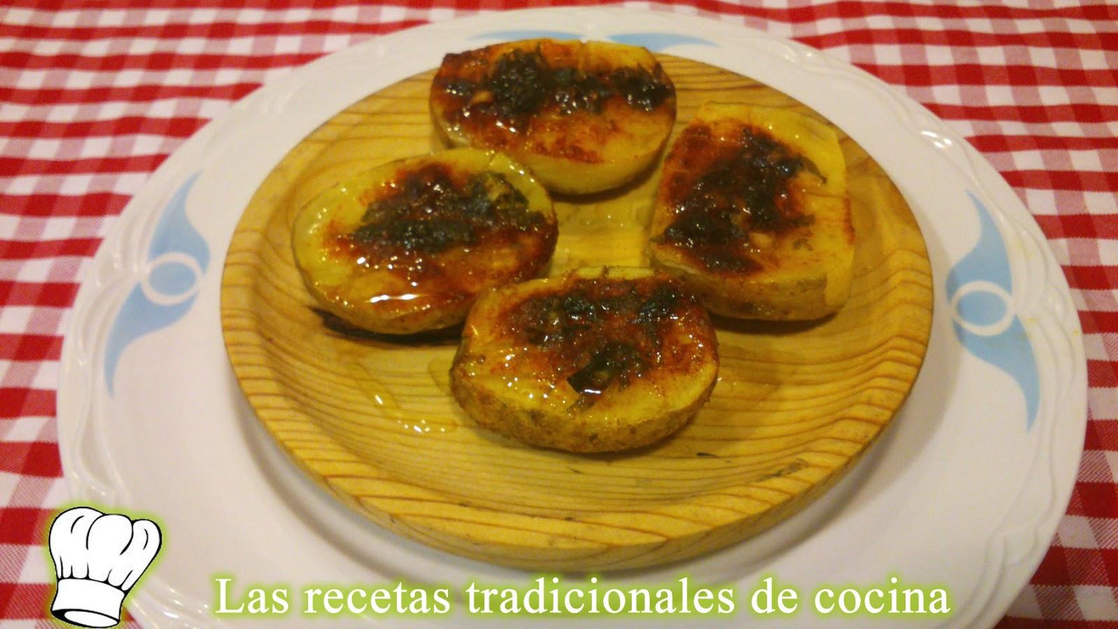 Recetas de chuletas de la huerta o patatas al horno - Patatas pequenas al horno ...