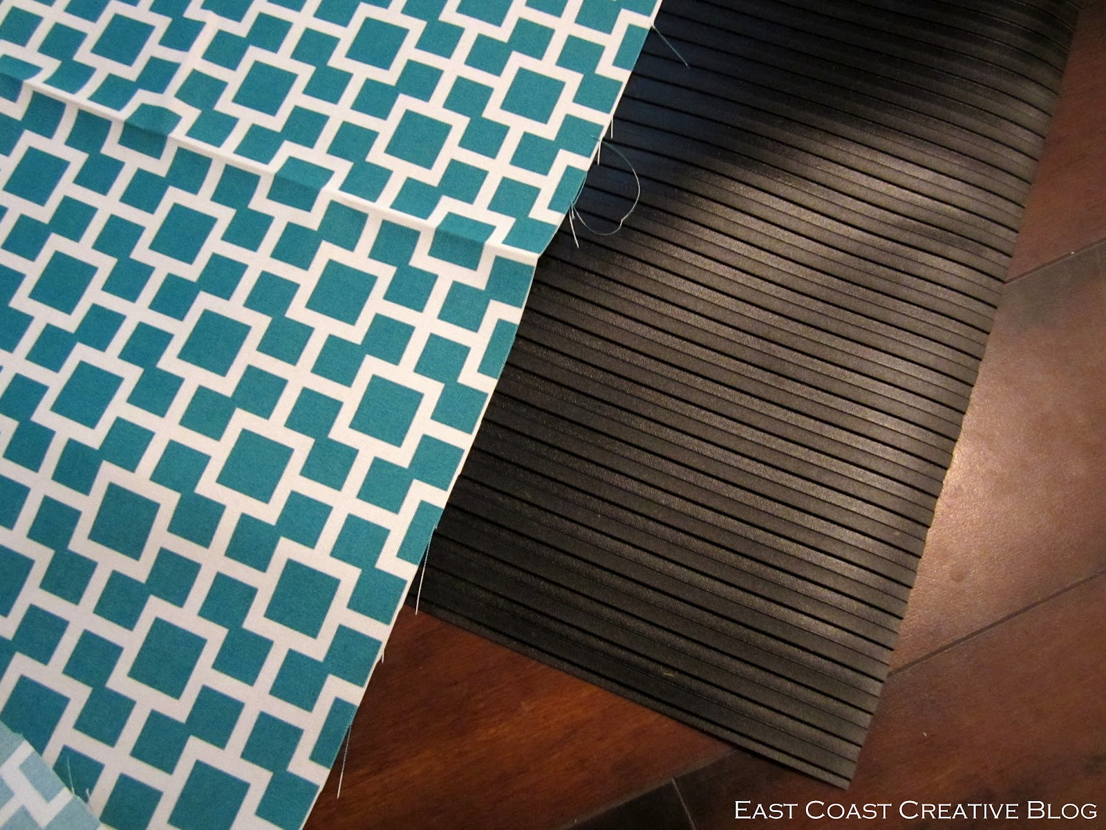DIY Fabric Floor Cloth {Floor Mat} - East Coast Creative Blog