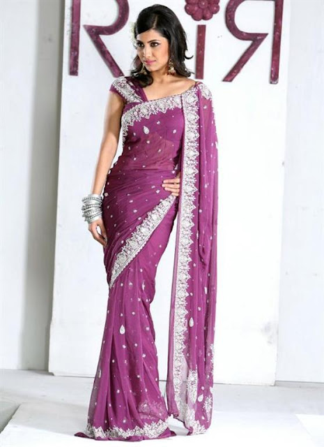 Embroidered Designer Saree Trend