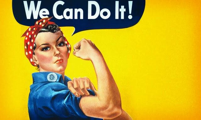 Kobieta pracująca jestem! Żadnej pracy się nie boję. Naprawianie kranu.