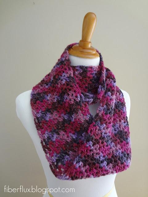 Free Crochet Pattern Pavement Infinity Scarf : Fiber Flux: Free Crochet Pattern...Gelato Infinity Scarf