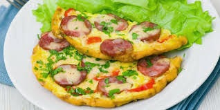 Resep Telur dadar, cara membuat telur dadar enak, menu telur dadar sosis spesial