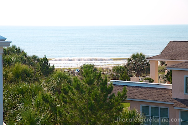 Photo of Atlantic Ocean from a home at Debordieu Colony in South Carolina.