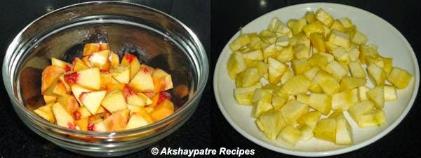 cut the mango peach