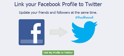 www.kulhead.blogspot.com how to link Facebook to Twitter