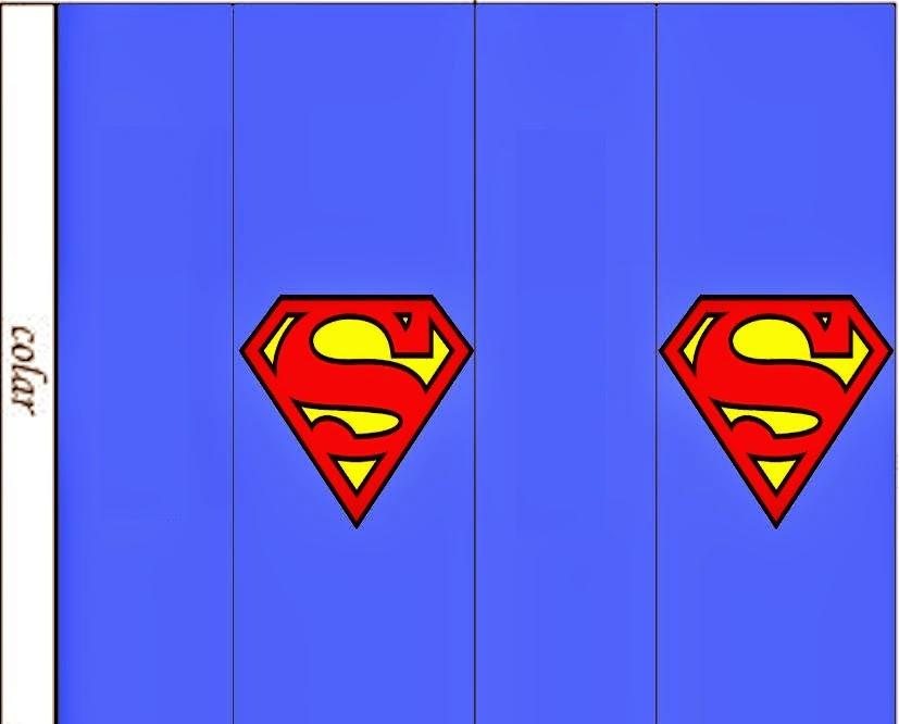 Etiquetas para Imprimir Gratis de Superman.