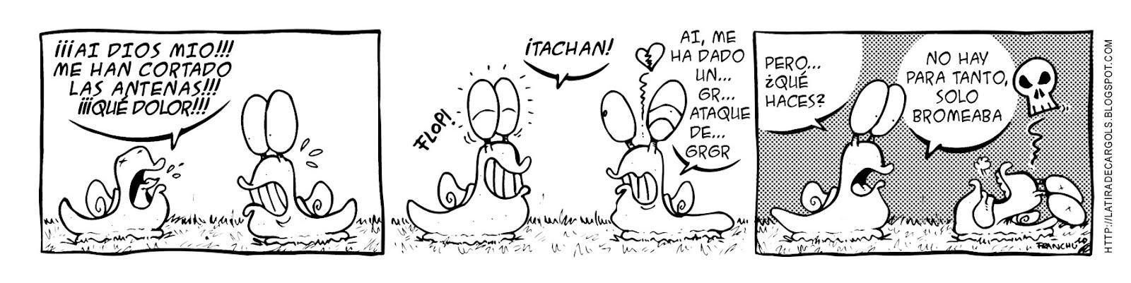 Tira comica 129 del webcomic Cargols del dibujante Franchu de Barcelona