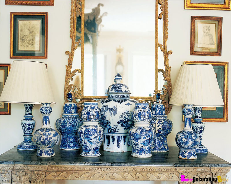 diy design interiors classic blue and white porcelain ForDecorating With Blue And White Pottery