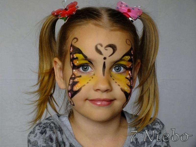 7 Niebo Wizaż Rybnik Malowanie Twarzy Dzieci Motyl Rybnik