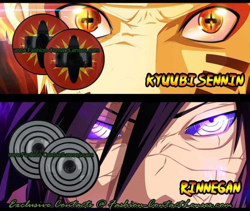 Naruto and Rinnegan contact lenses
