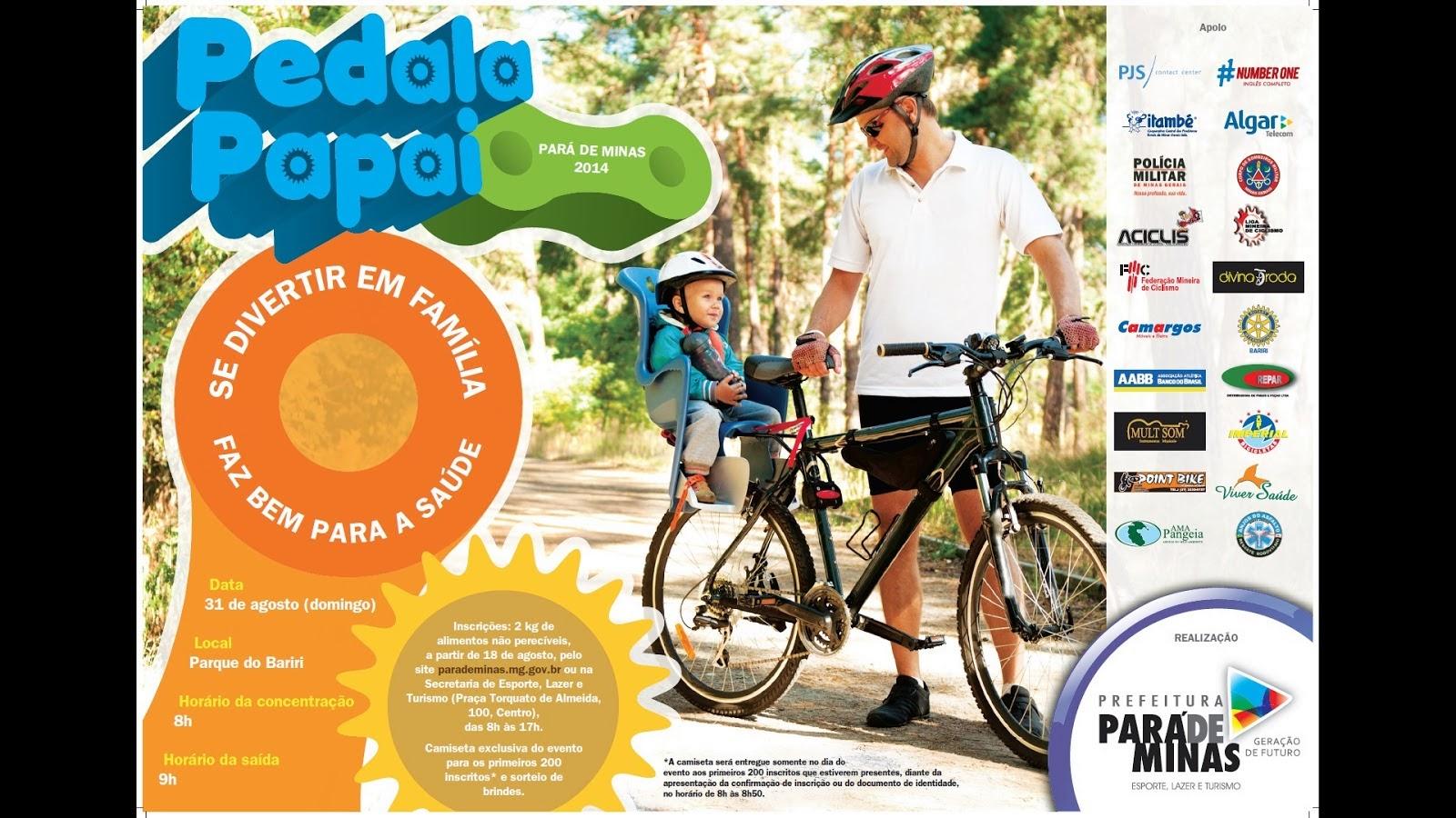 Passeio Ciclístico Pedala Papai 2014 - Pará de Minas - MG 31-08-2014
