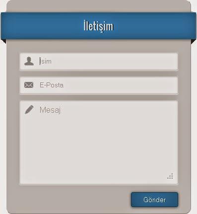 iletişim Formu Gadget 4