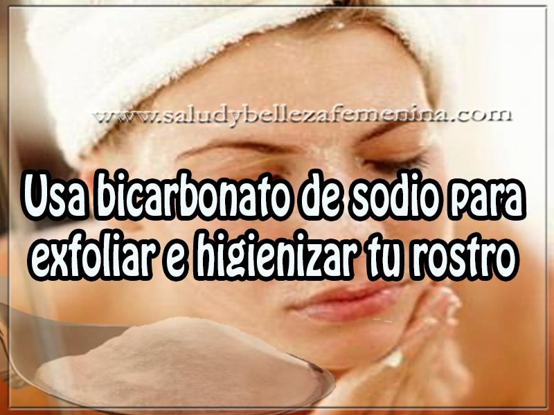 Cuidados del rostro , belleza , remedios caseros ,  usa bicarbonato de sodio para exfoliar e higienizar tu rostro