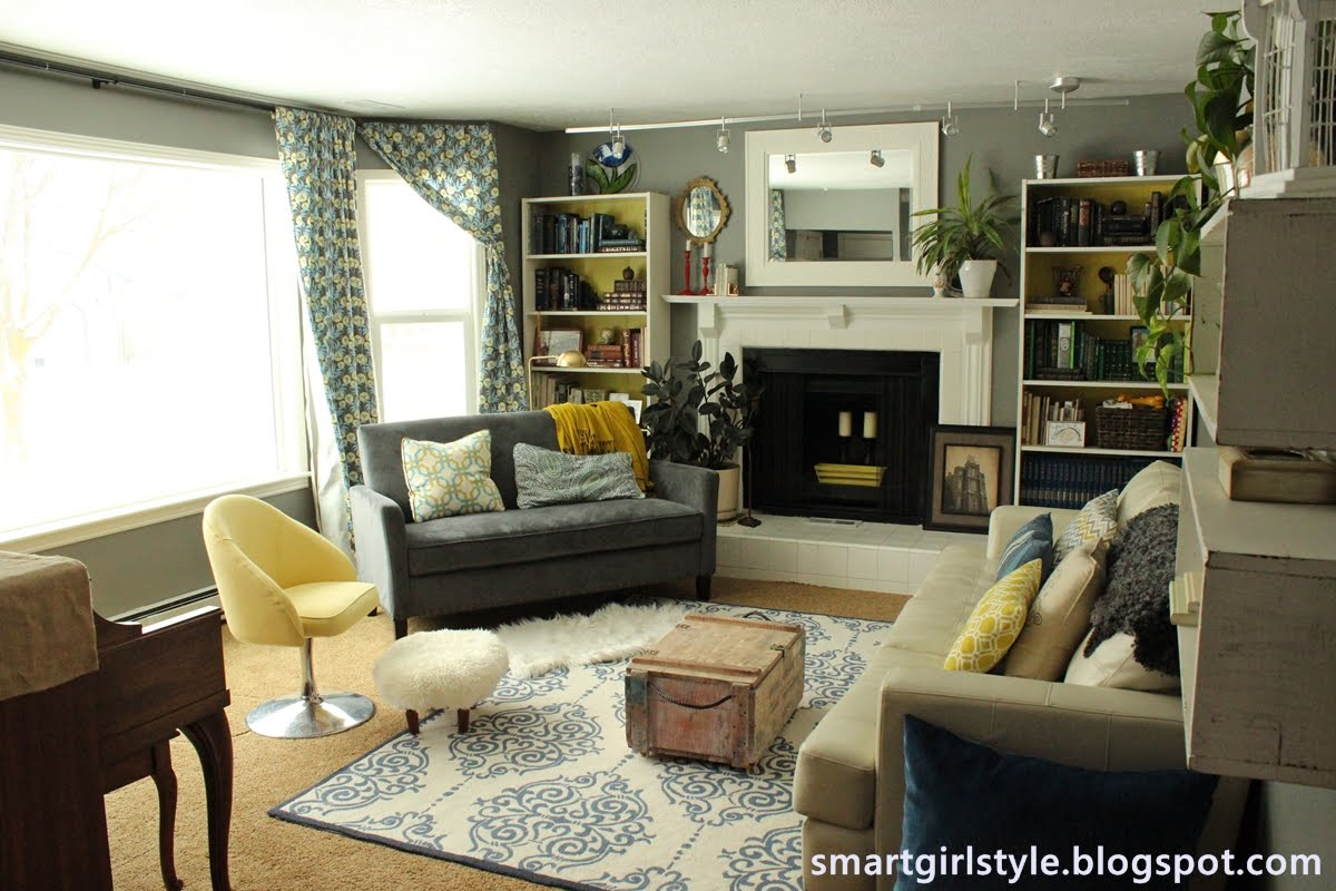 Smartgirlstyle living room makeover for Pics of living rooms