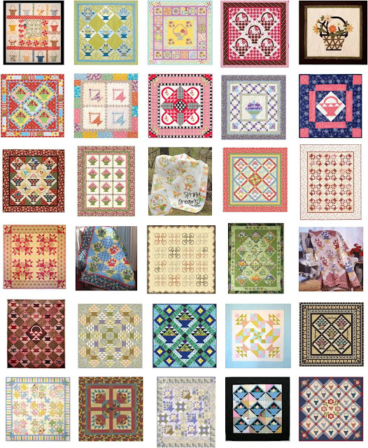 – Baskets , in the block of the month quilt at Jina Barney Designs title=