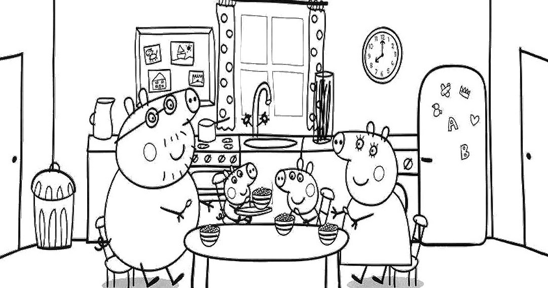 Peppa pig disegno da colorare n