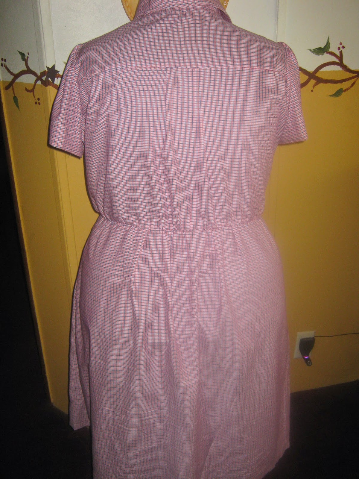 New Look A6180 Shirt Dress Back View www.sewplus.blogspot.com