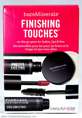 Bare Minerals Finishing Touches Sephora Beauty Insider Set Bare Minerals Pretty Amazing Lip Color in Panache, Mineral Veil, Flawless Definition Volumizing Mascara in Black