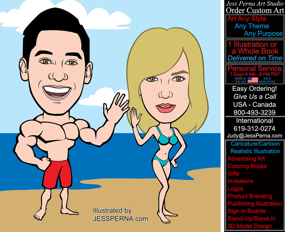 How To Order Cartoon Caricature Ads And Gifts Of People