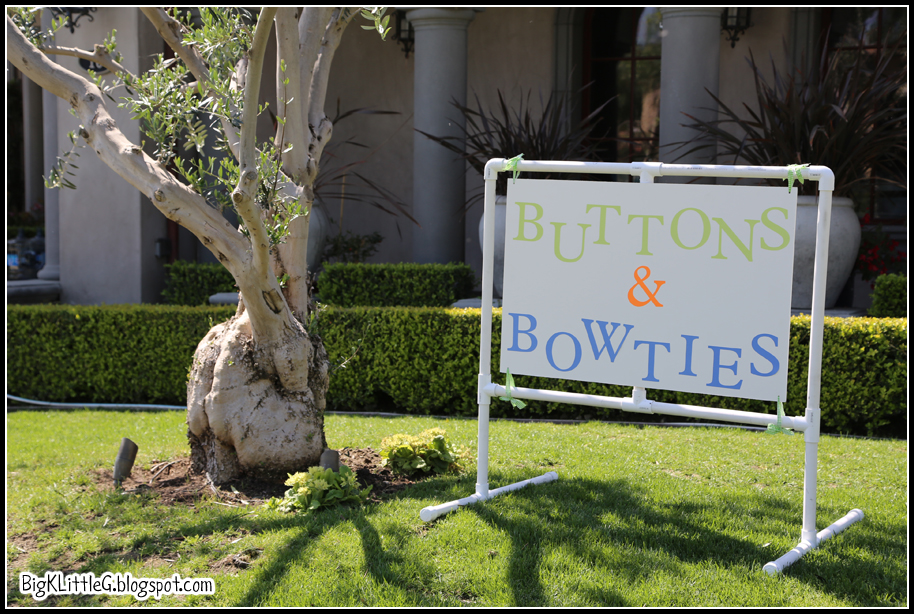 Big k little g buttons and bowties baby shower for our