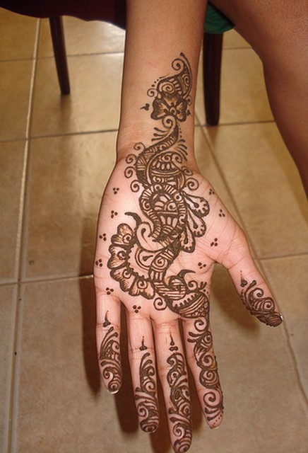 Mehndi Design Kaki : Collection of mehendi designs for single hand
