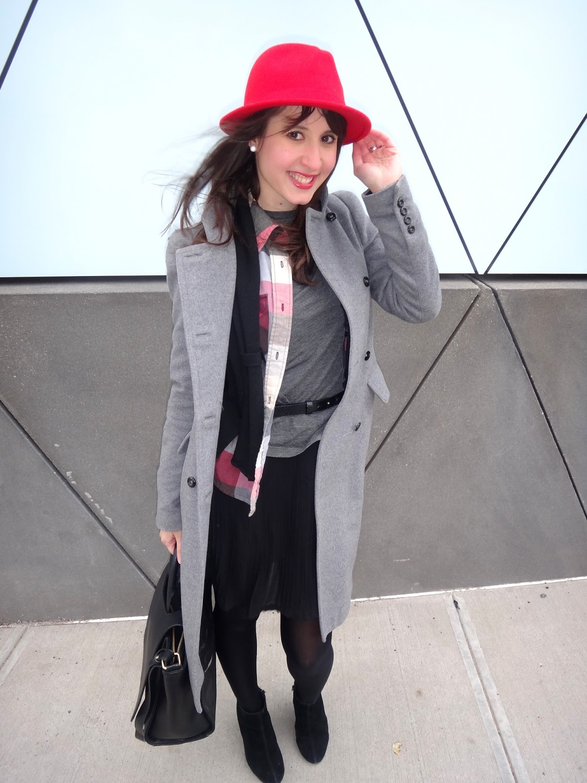 Fashion and Beats: Real: Red hat- plaid and gray. A lesson in ...