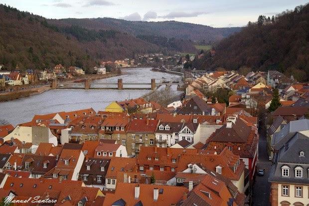 Heidelberg, panorama dalla Heiliggeistkirche