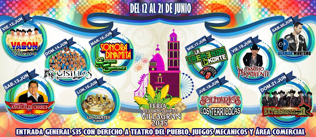Feria de corpus Christi Villagran 2015