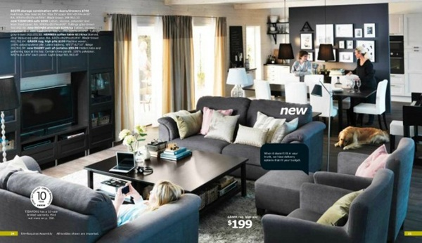 Dark IKEA Collection Living Rooms Designs Catalog