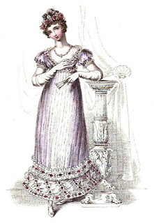 Ball dress  from La Belle Assemblée (1816)