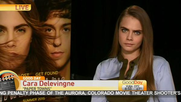 cara delevingne awkward good day sacramento interview