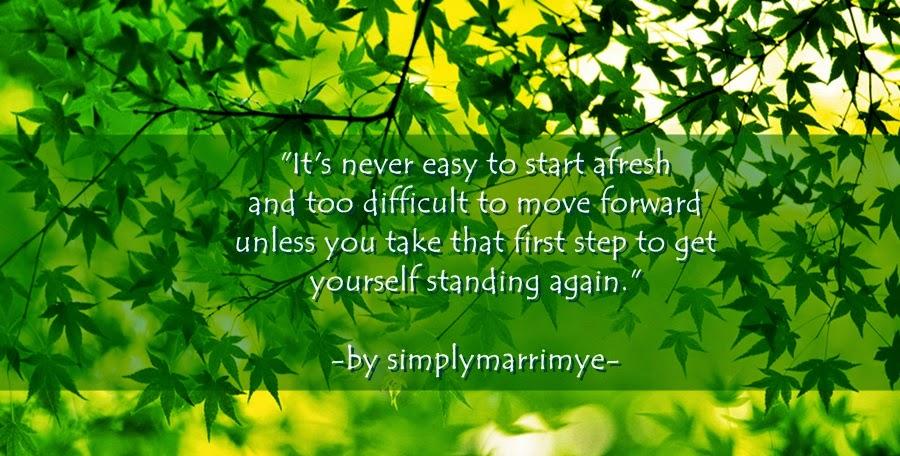 Starting Over Again by Simplymarrimye