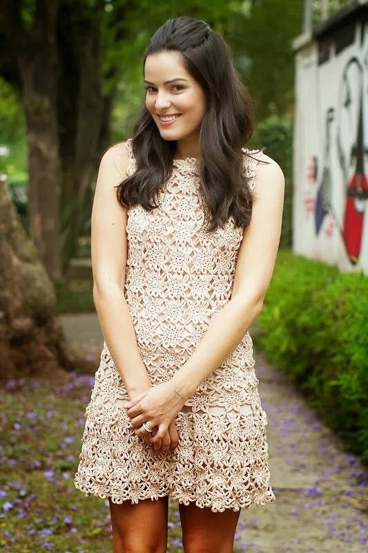 Vestido Rosa a Crochet