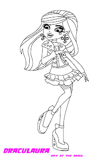 Monster High Draculaura Coloring pages