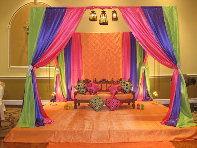 Mehndi Stage Decoration Simple : Mehandi mehndi stage decoration