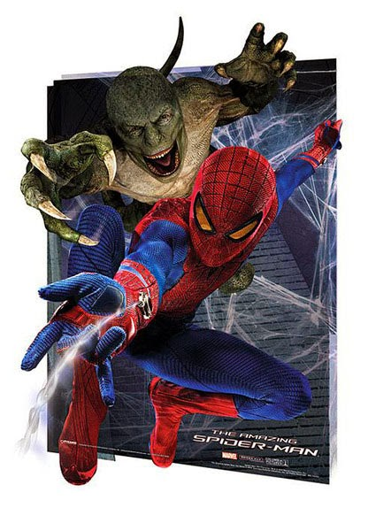 Poster efecto 3D Amazing Spiderman 4