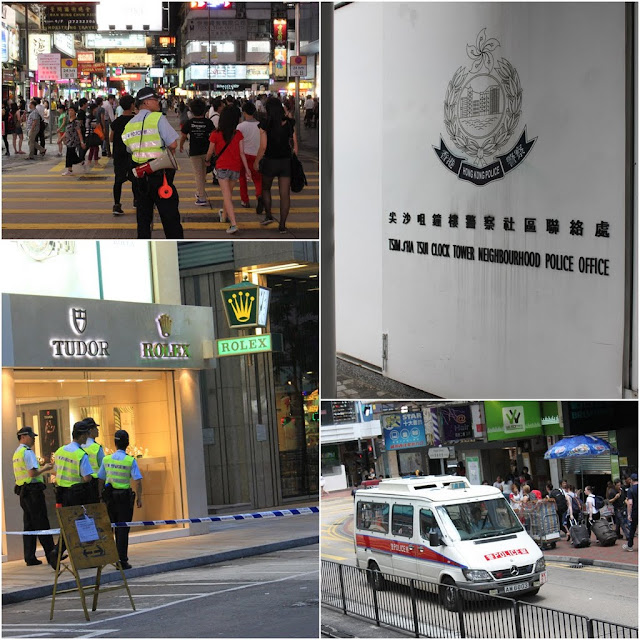Feeling safe walking in the day and night with police patrolling on the streets in Hong Kong