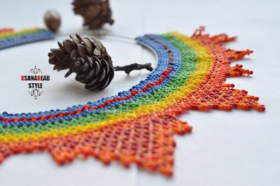 осенне ожерелье из бисера