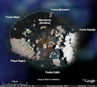 Google Earth Satellite Picture of Marchena's Caldera
