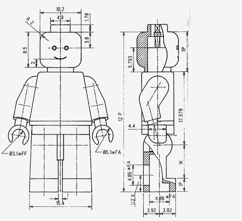 patente, muñeco, Lego